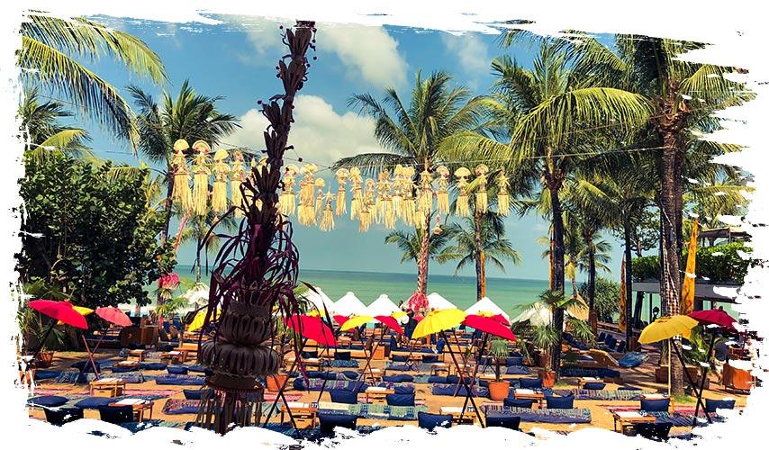 Beach club op Bali