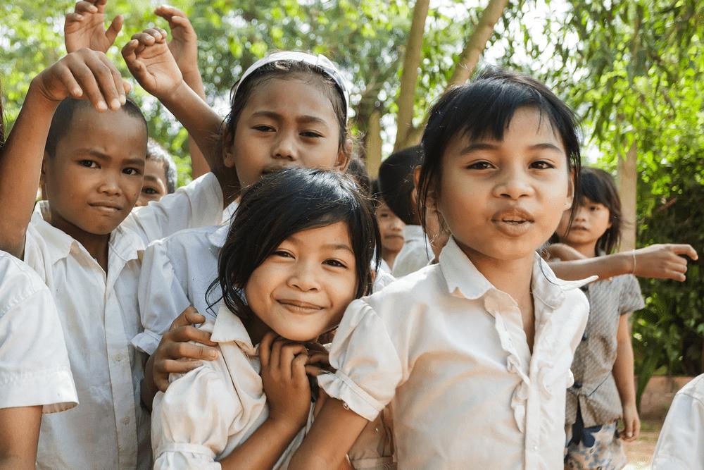 Kinderen in Cambodja