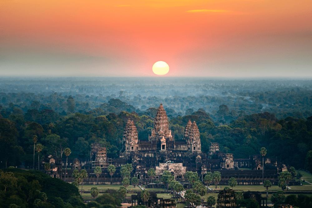 Tempels van Angkor in Cambodja